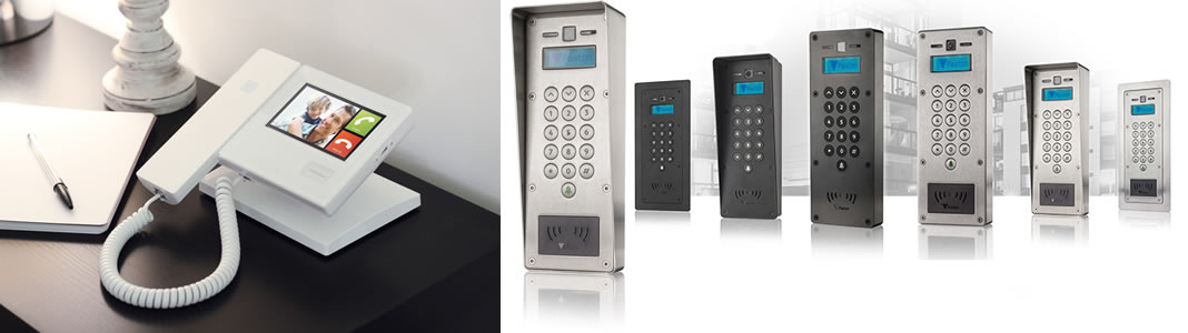 Wireless video entry systems and home intercom systems